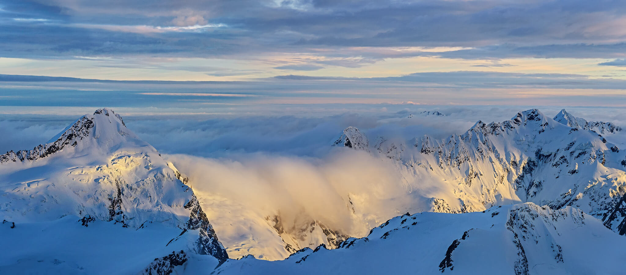 photography guide mount cook scenic flight sunrise pano by nico babot