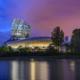 Blue hour at cite du vin Bordeaux photo by Nico Babot